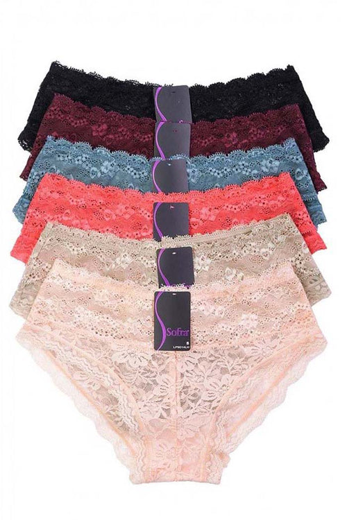Ladies Lace Hipster : Pack of 3