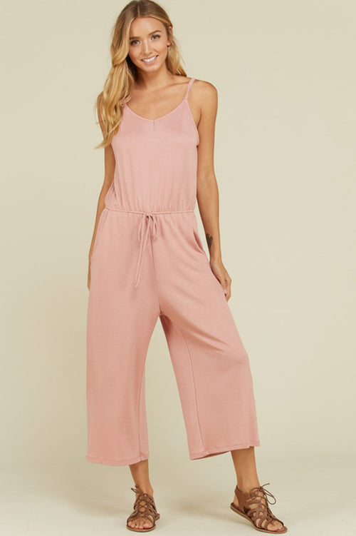 Eunice Essential Cropped Jumpsuits : Marsala