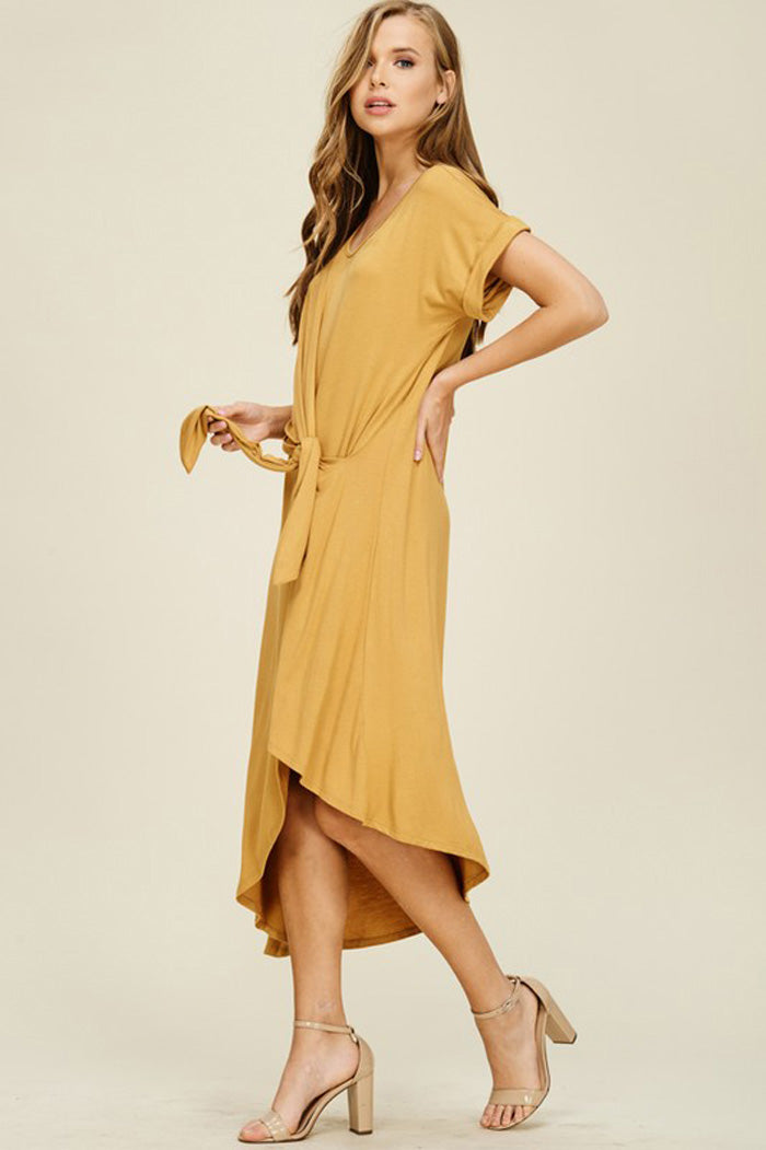 Audrey Asymmetrical Dress : Bronze