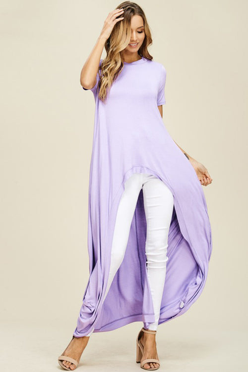 Abbey Hi-lo Tunic Top : Lavender