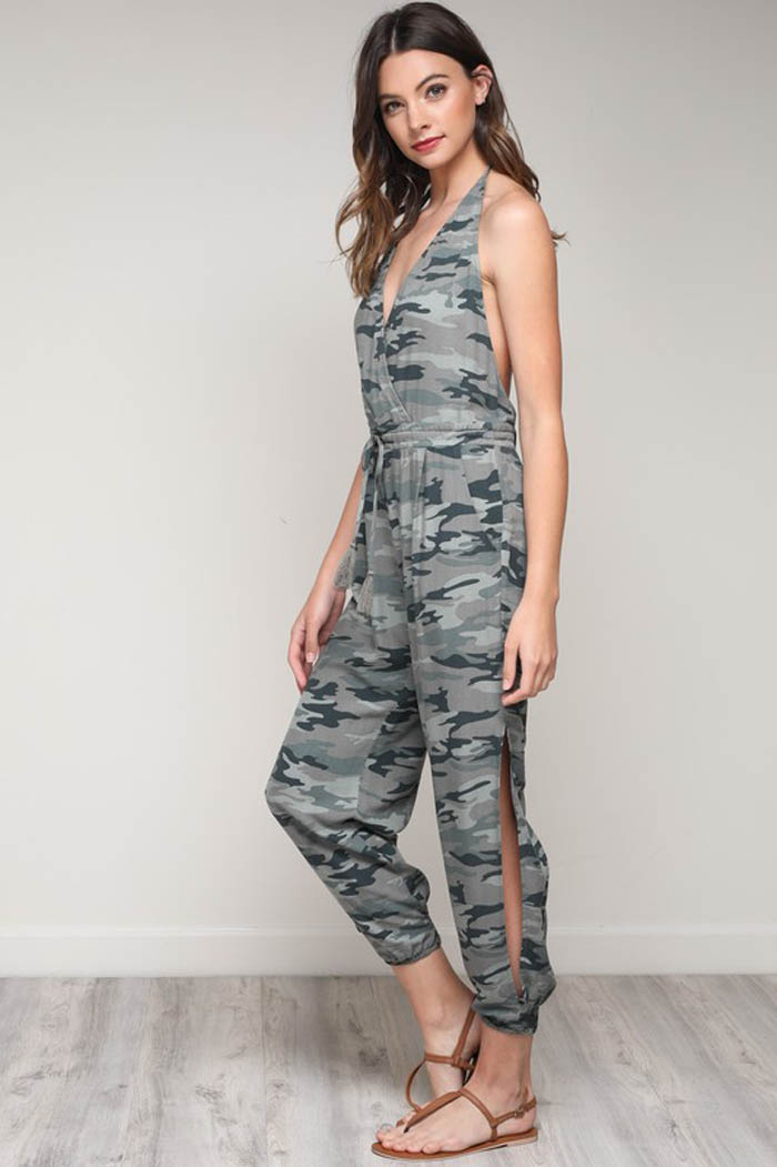 49f5609484 Tiffany Halter Jumpsuits : Camouflage – GOZON Boutique