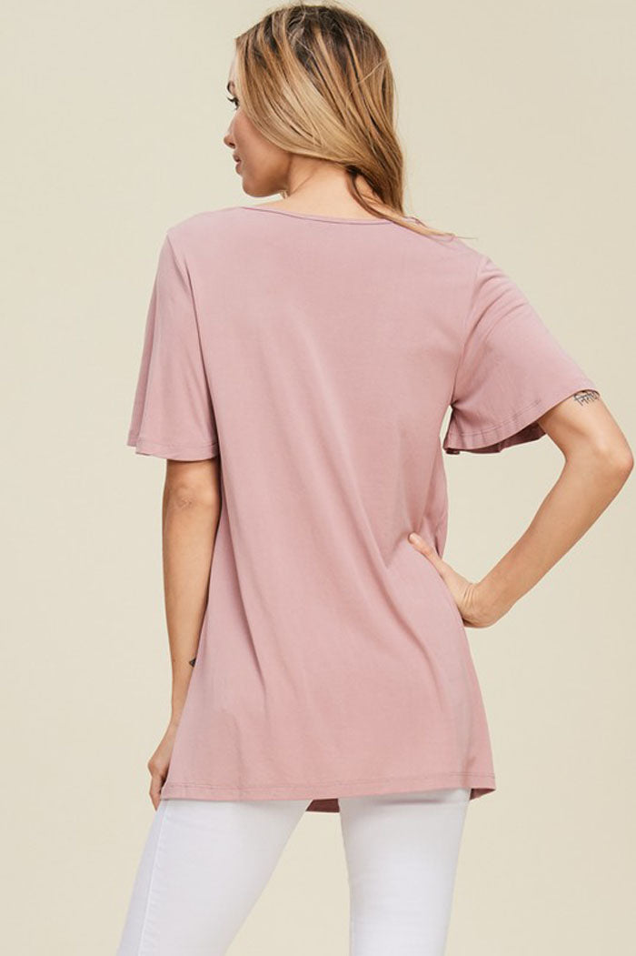 Sarah Embroidery Top : Mauve