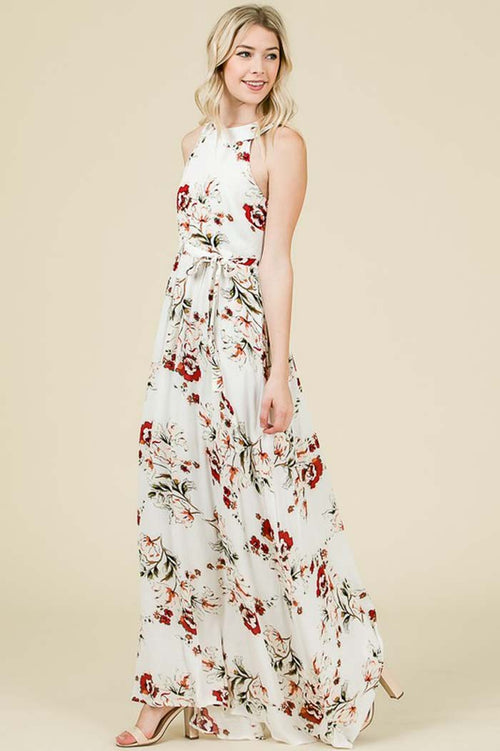 Brooke Romantic Maxi Dress : Cream