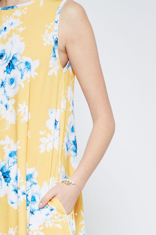 Clara Icy Floral Dress : Yellow