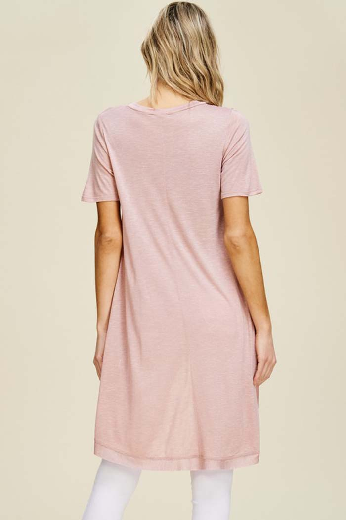 Chloe High-Low Tunic Top : Mauve
