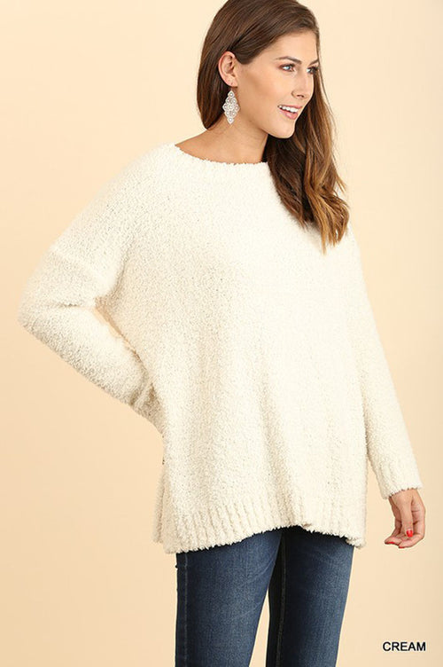 Andrea Fuzzy Sweater : Cream