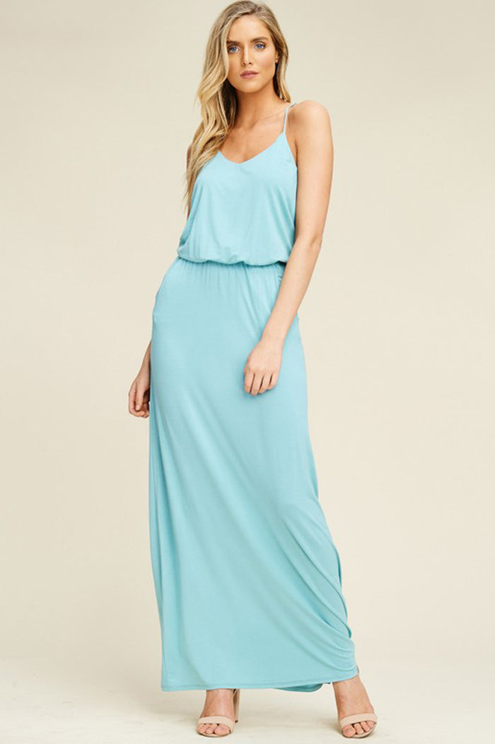 Alexa Elastic Waist Maxi Dress : Bone