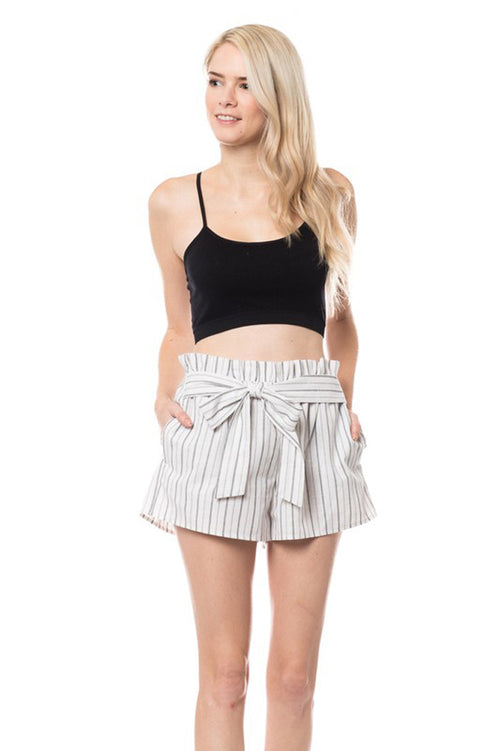 Eliza Tie Shorts : Off White