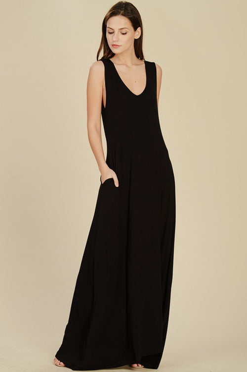Charlotte Reversible Maxi Dress : Black