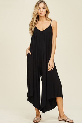 Katy Velvet Jumpsuit : Black