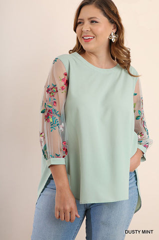 Vivian Uneven Hem Top : Vintage Rose