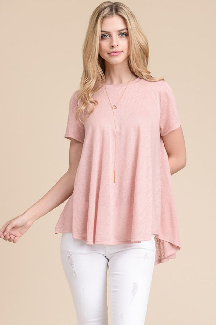 Elise Loose Tunic Top : Ivory
