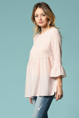 Betty Ruffle Top : Pink