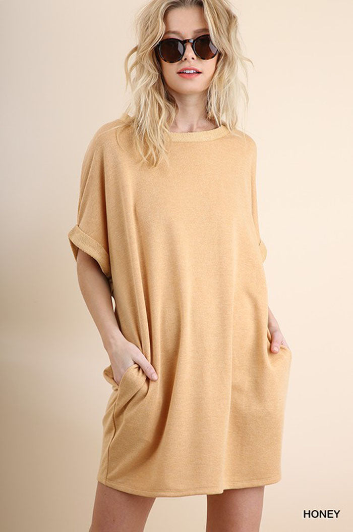 Esther Terry Loose Dress : Honey