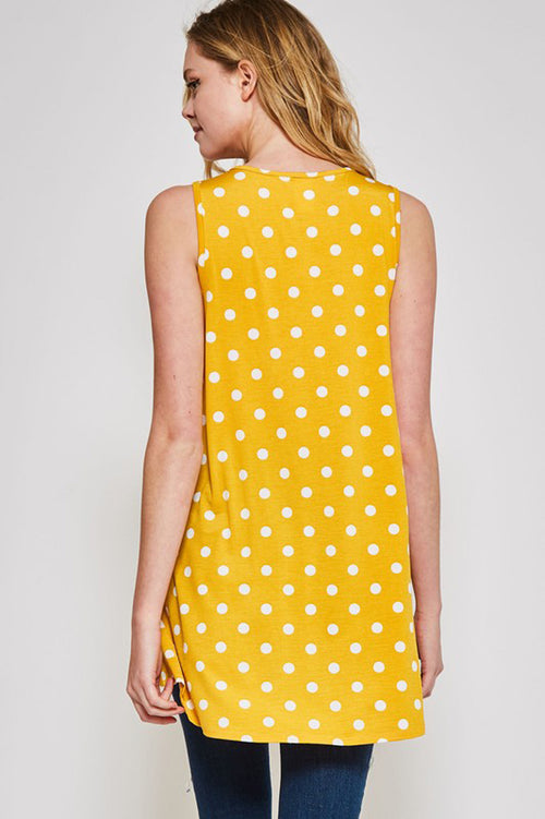 Vanessa Polka Dot Tunic : Yellow/Ivory