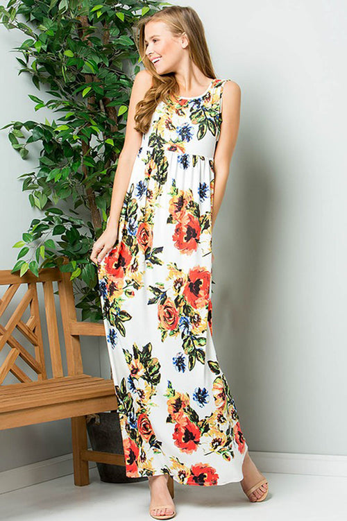 Christine Bold Floral Maxi : Ivory