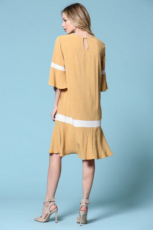 Beth Swing Midi Dress : Mustard