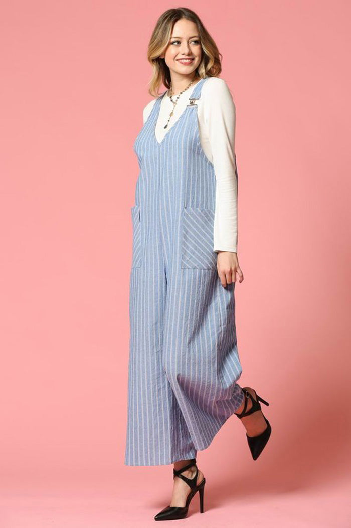 Stella Wide Pants Jumpsuits : Blue