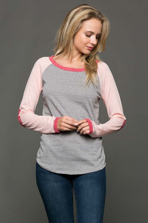 Colorblock Baseball Tee - Shirts - GOZON