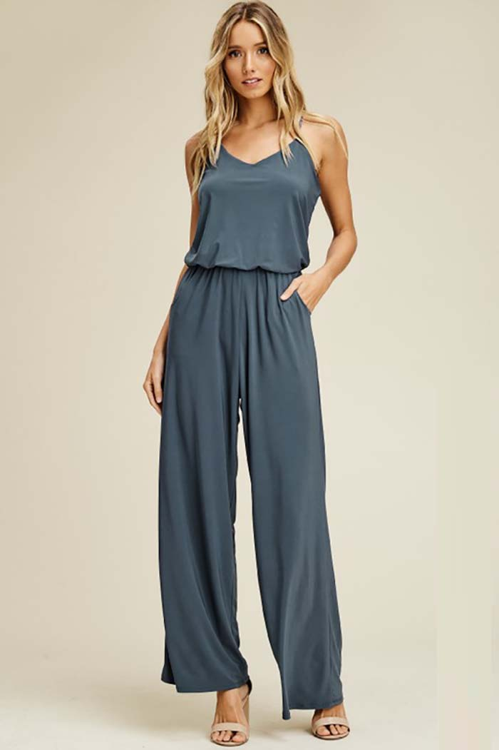 Renee Straight Leg Jumpsuits : Olive