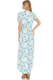 Ruffle Floral Maxi Dress - maxi - GOZON
