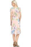 Wrapped Tulip Floral Dress - midi - GOZON