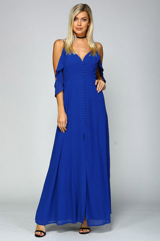Button Down Maxi Dress - maxi - GOZON