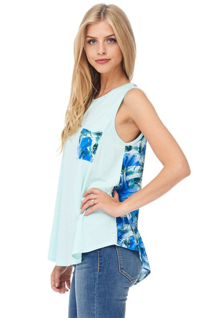 Casual Blue Feather Top - Shirts - GOZON