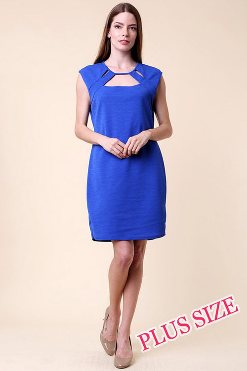 Cutout Mini Dress -Plus - Dresses Plus - GOZON
