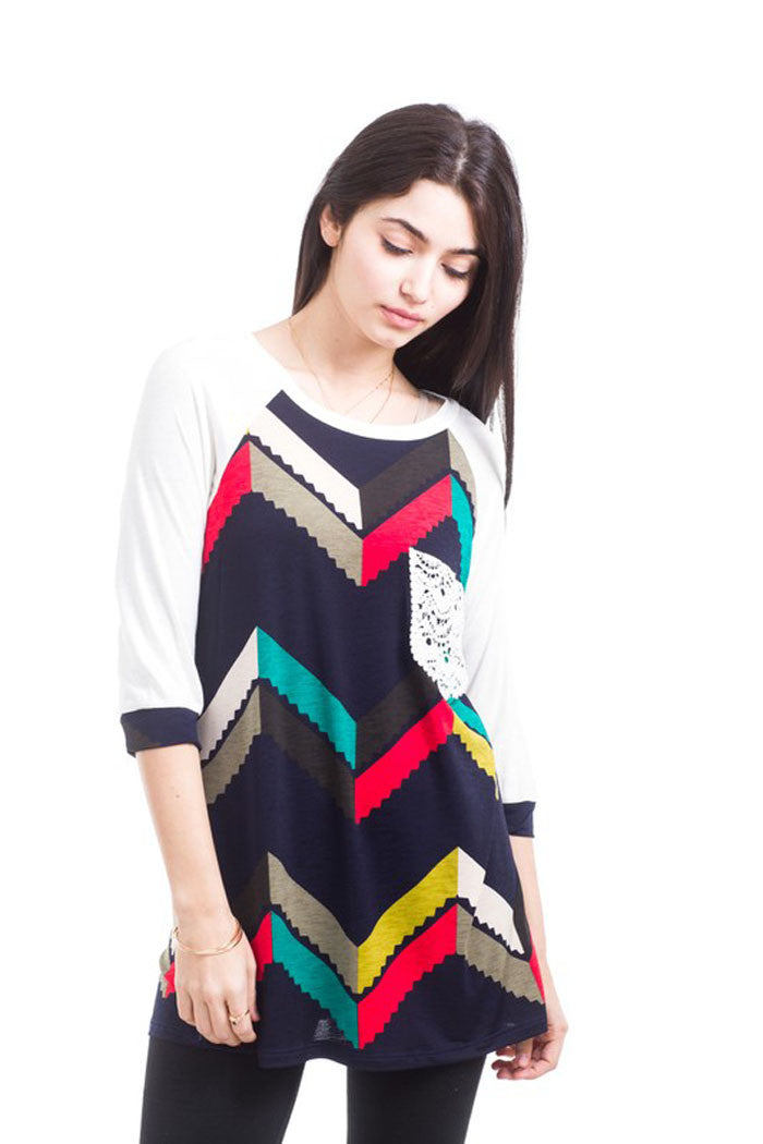 Chevron Pocket Top