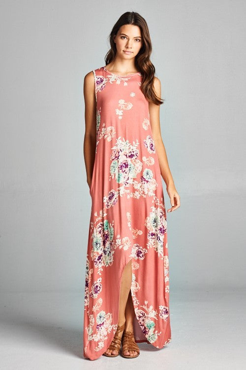 Floral Flake Maxi Dress - Maxi - GOZON