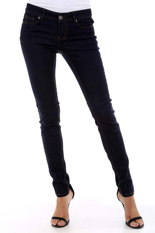 Solid Skinny Pants -  - GOZON