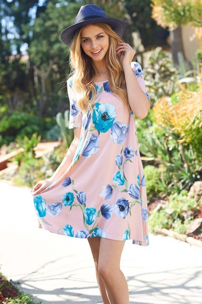 Floral Swing Mini Dress - Mini - GOZON