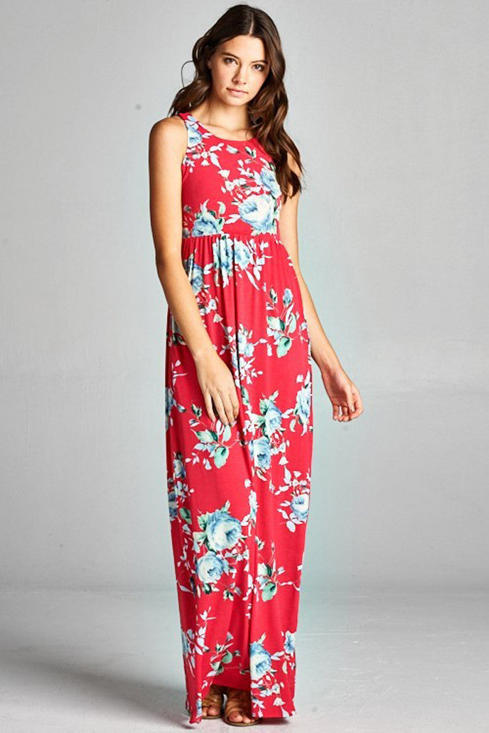 Frozen Floral Dress - maxi - GOZON