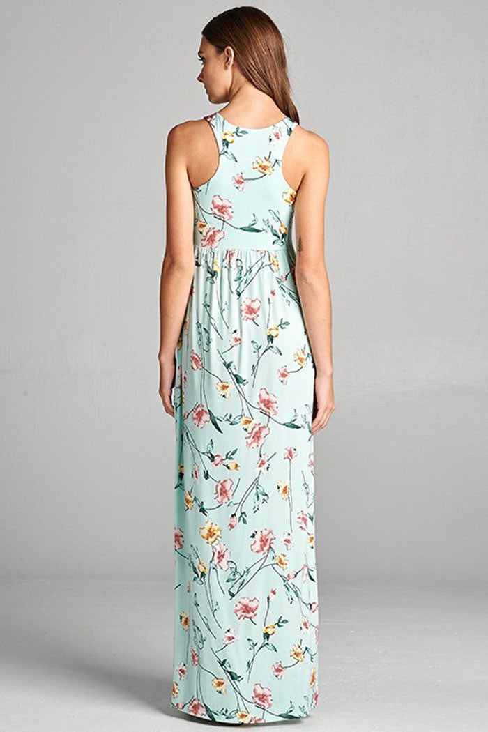 Floral Vine Dress - maxi - GOZON
