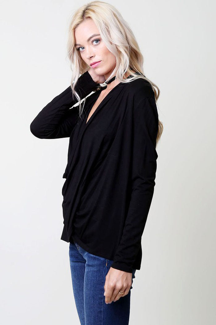 Jamie Plunging Top : Black