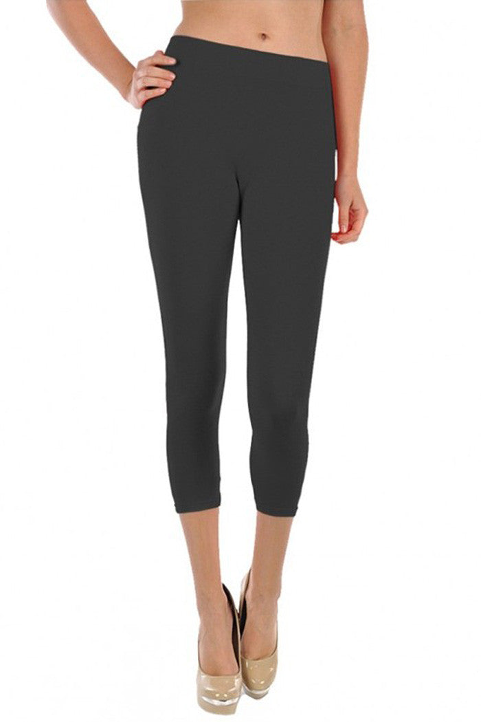 Casual Solid Leggings - leggings - GOZON