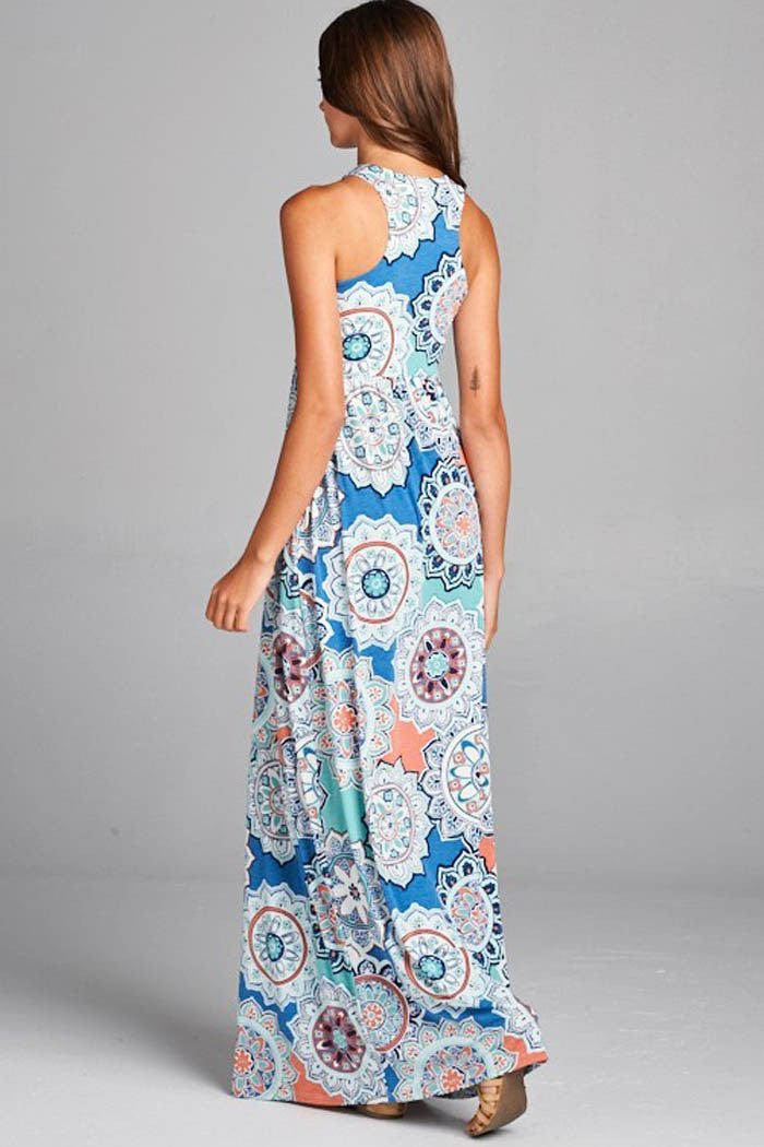 Multi Pattern Dress - maxi - GOZON