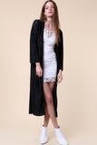Pleated Duster Jacket - Cardigans - GOZON