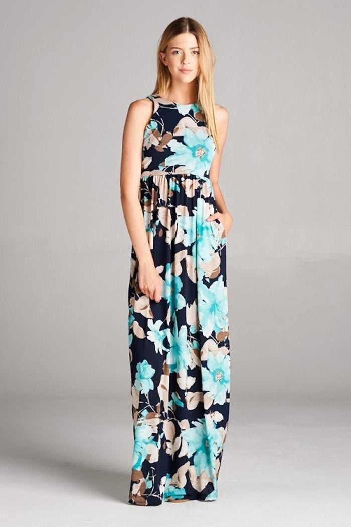Big Floral Maxi Dress - maxi - GOZON