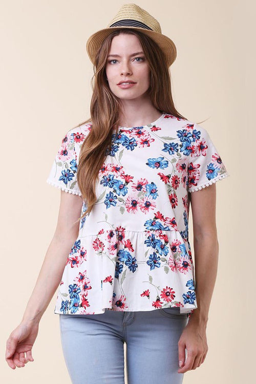 Picnic Floral Top - Shirts - GOZON