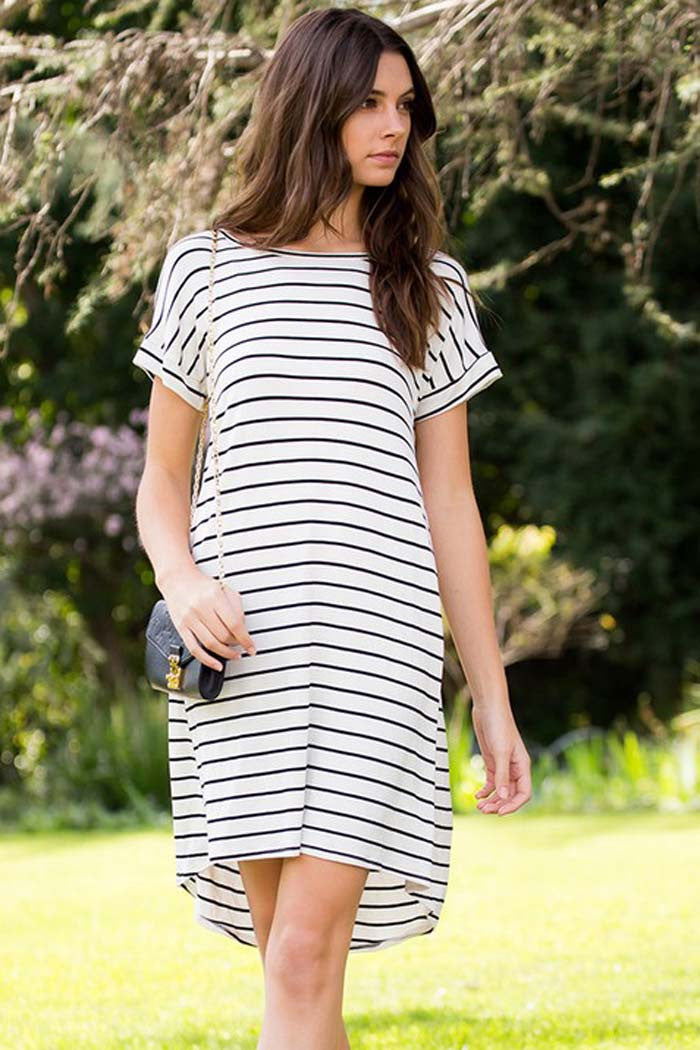 Stripe Midi Dress - Mini - GOZON