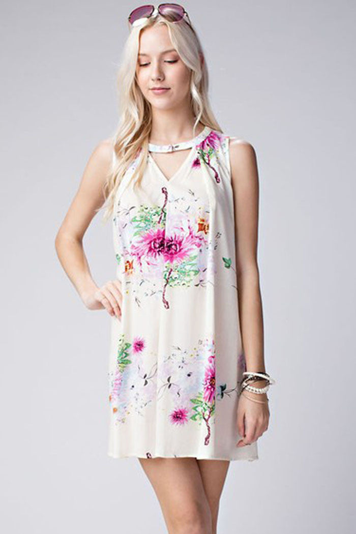 Floral Mini Dress - Mini - GOZON