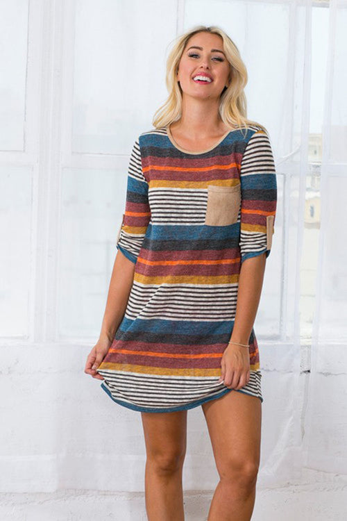 Loose Fit Striped Dress