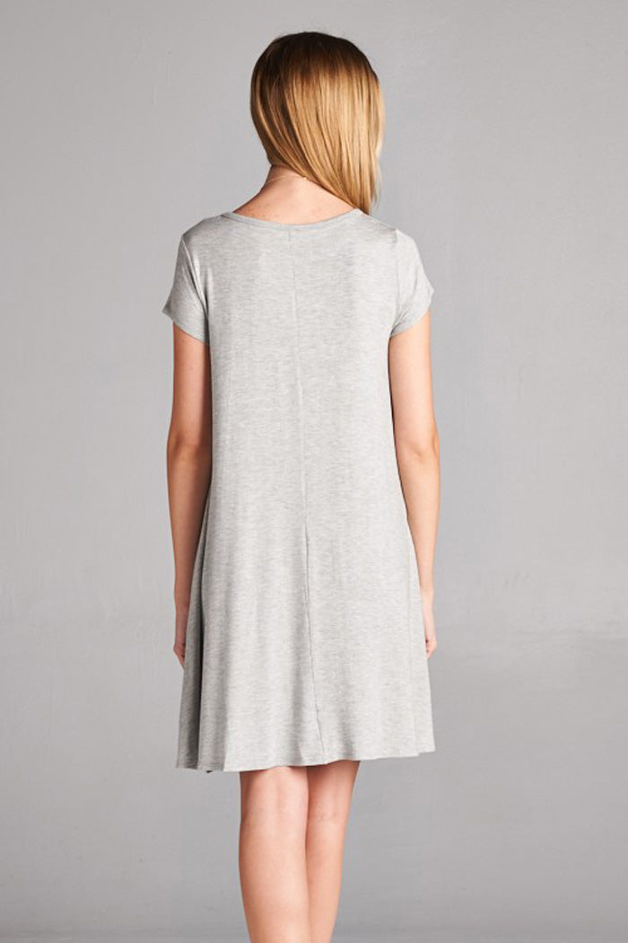 Medaline Basic Midi Dress : Heather Grey