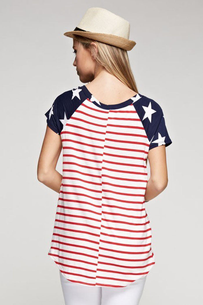 Flag Casual Top - Shirts - GOZON