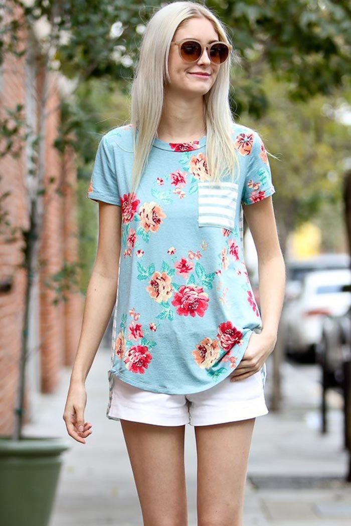 Floral Casual Cozy Top - Shirts - GOZON