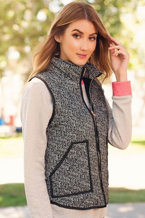Padded Vest with Zipper