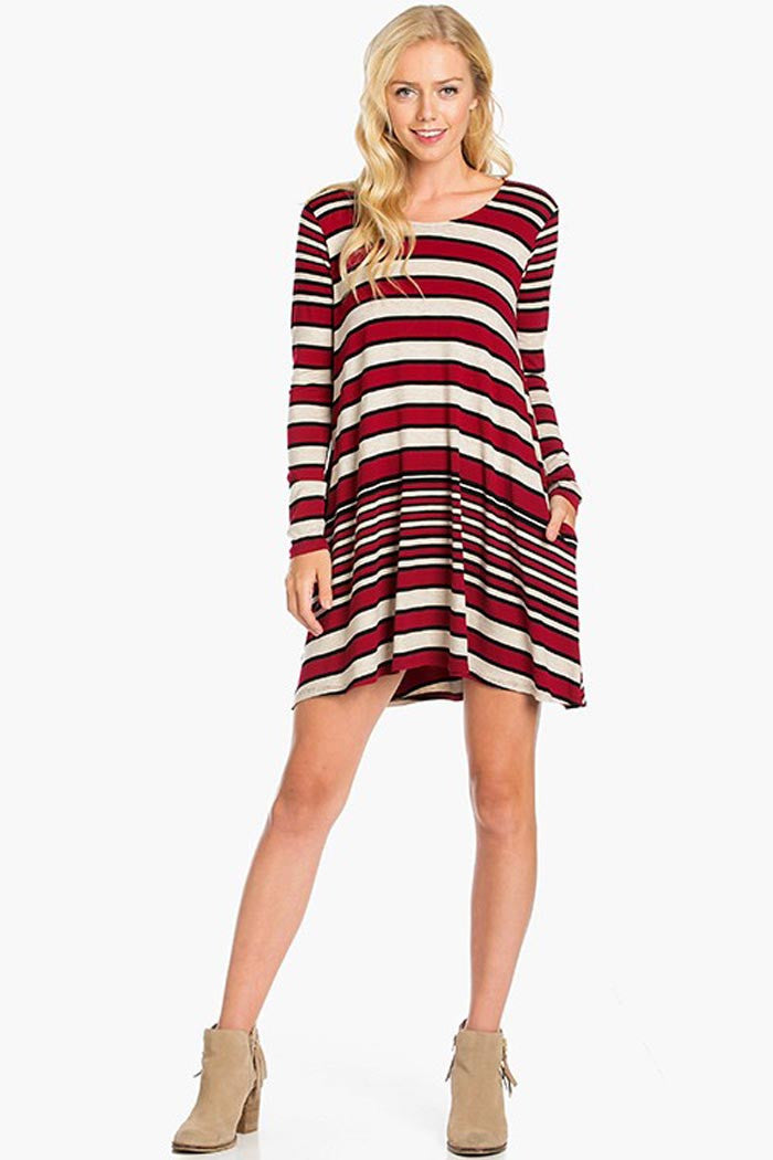 Casual Jersey Mini Dress