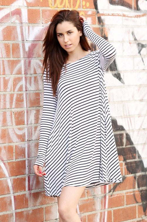 Basic Stripe Mini Dress